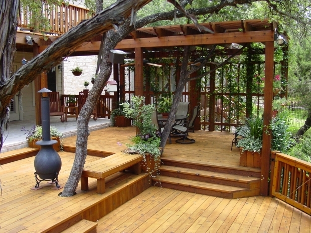 Alluring Multi Level Pergola Multi Level Deck With A Pergola Only Problem I Can See Is That As