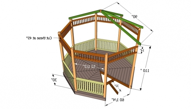 Alluring Octagon Gazebo Plans Gazebo Plans Free Howtospecialist How To Build Step Step