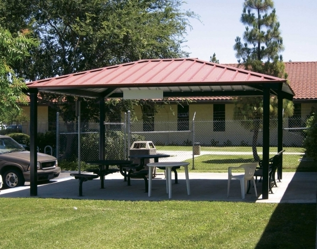 Awesome Steel Roof Gazebo Metal Roof Metal Roof Pavilions Backyard Ideas Pinterest