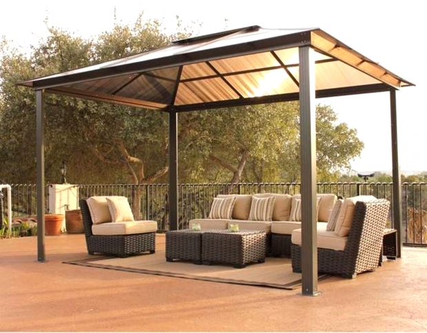 Beautiful Gazebo Steel Roof Pros And Cons Of Gazebo With Metal Roof Gazebo Ideas