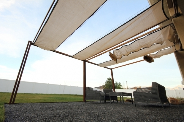 Beautiful Steel Pergola With Retractable Canopy Kingbird Design Llc Pergola With Retractable Shades