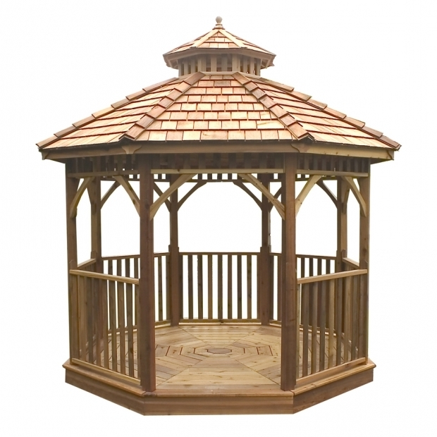 Delightful Gazebo Wooden For Sale Shop Gazebos At Lowes