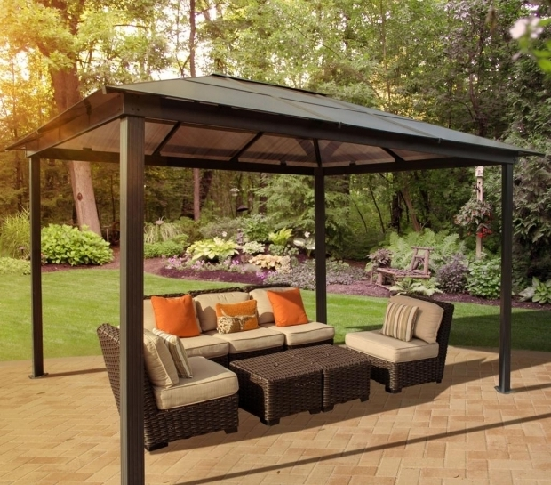 Delightful Metal Gazebos For Sale Outdoor Stylish Modern Sears Gazebo For Any Yard Lowgallery