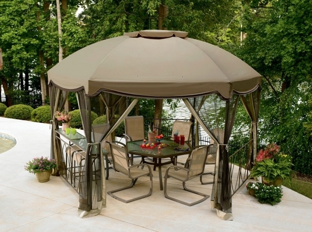 Fantastic Garden Oasis Pergola Gazebo Canopy With A Circular Roof Gacebos Pinterest As