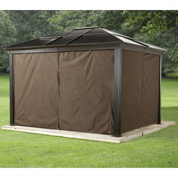 Fascinating Gazebo With Mosquito Netting For Sale Sojag Sedona Privacy Curtains Wayfair