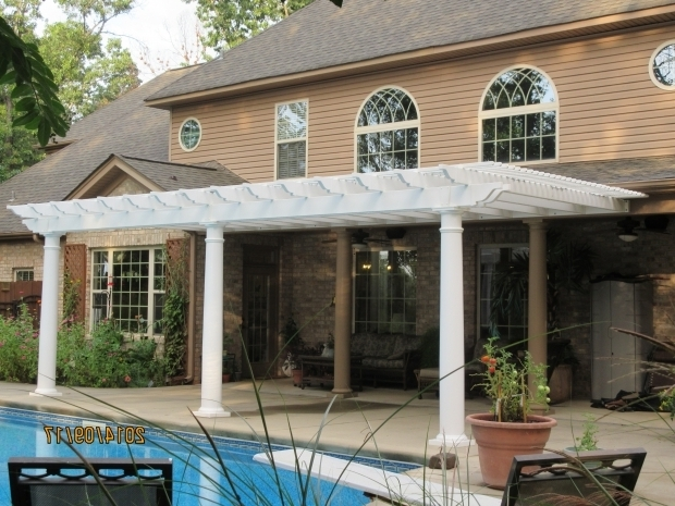 Gorgeous Attached Pergola Kits Pergolas And Pergola Kits With Round Tapered Columns