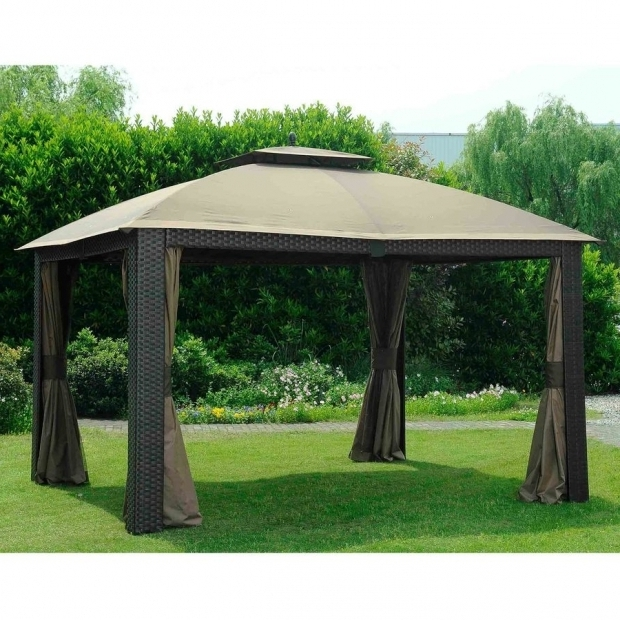 Gorgeous Gazebo Sunjoygroup Shop Sunjoy Beige Aluminum Rectangle Permanent Gazebo Exterior