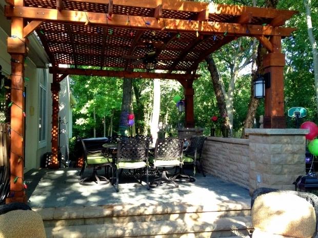 Gorgeous Multi Level Pergola Redwood Pergola Over Multi Level Patio Outdoor Living With