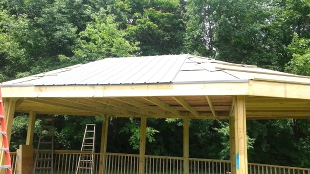 Gorgeous Steel Roof Gazebo 20130701 How To Install A Steel Roof On Gazebo Youtube