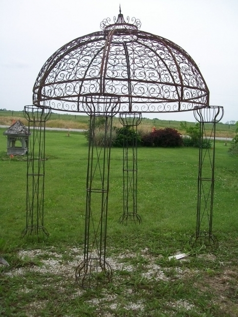 Gorgeous Wrought Iron Pergola Vintage Metal Arbor Wrought Iron Gazebos Garden Metal Gazebo