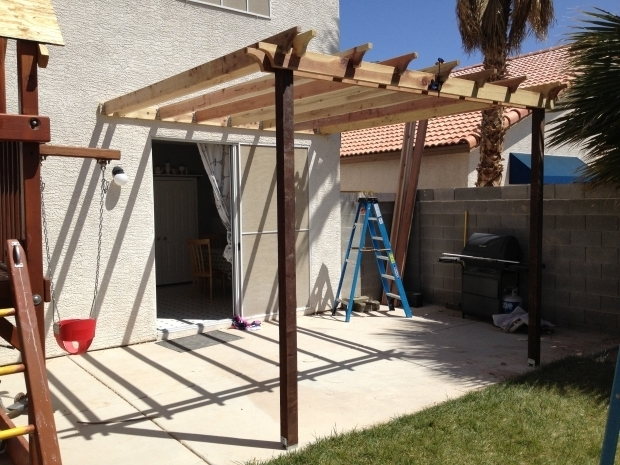Image of How To Build A Pergola Attached To A House Ana White Pergola Attached Directly To The House Diy Projects