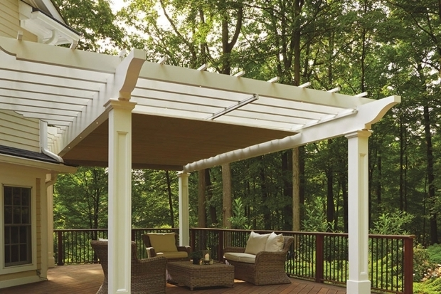 Image of Pergola With Retractable Shade Canopy Retractable Pergola Canopy In Morris Plains Shadefx Canopies