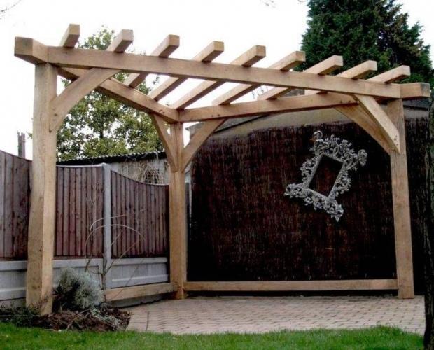 Image of Triangular Pergola Unique Triangular Pergola Landscaping And Outdoor Building