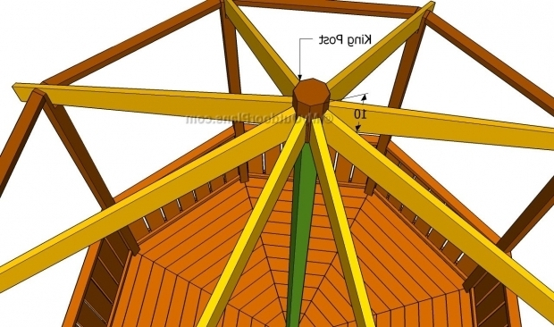 Incredible Octagon Gazebo Roof Plans Gazebo Roof Framing Myoutdoorplans Free Woodworking Plans And