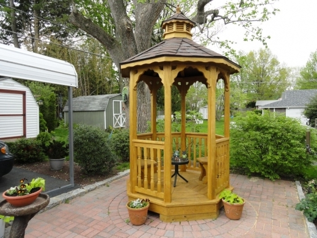 Inspiring Small Wooden Gazebo Kits Gazebo Design Ideas Built Ins Yards And Or