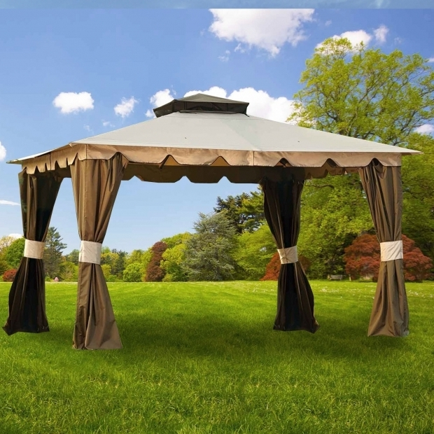 Outstanding Gazebo Replacement Canopy 10x12 Hampton Ii 10 X 12 Gazebo Replacement Canopy Garden Winds