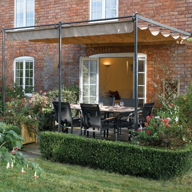 Outstanding Steel Pergola With Retractable Canopy 1010 X 911 Ft 33 X 3m Retractable Metal Garden Pergola