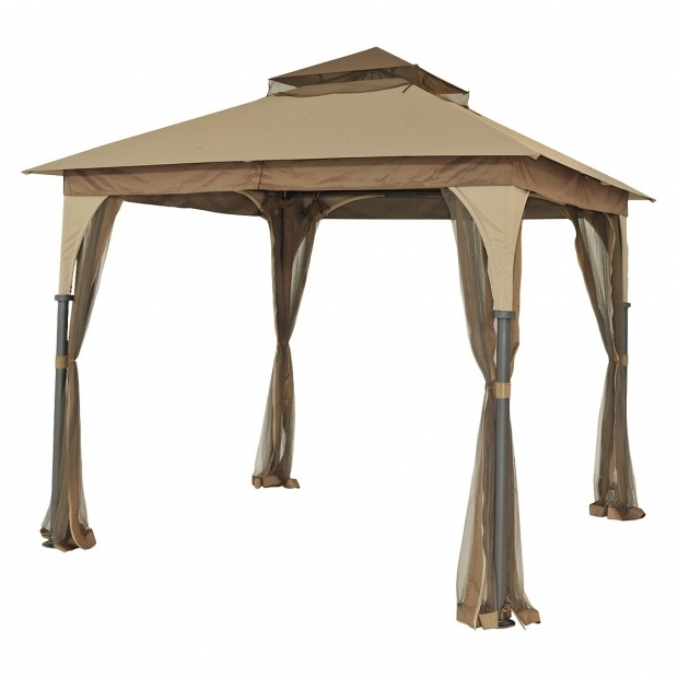 Picture of 9 X 9 Gazebo With Mosquito Net Room Essentials 9x9 Replacement Gazebo Canopy Beige 4720
