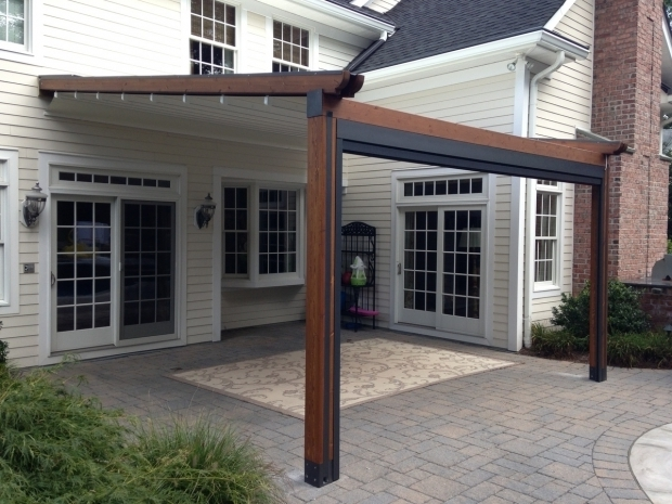 Picture of Sliding Pergola Cover Private Residence Landscape Pool And Patio Application Northern