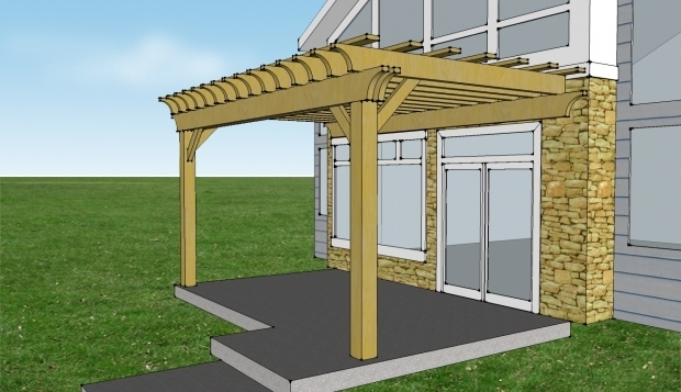 Remarkable Attached Pergola Kits Attached 2 Beam Pergola Kit