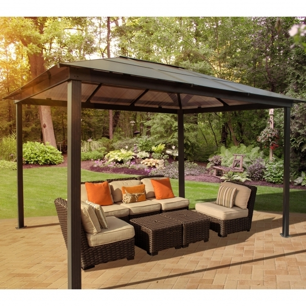 Stunning Gazebo Sale Clearance Stc Madrid Four Season 10 Ft W X 13 Ft D Metal Permanent Gazebo