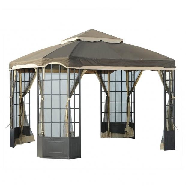 Hampton Bay Grill Gazebo Replacement Canopy - Pergola ...