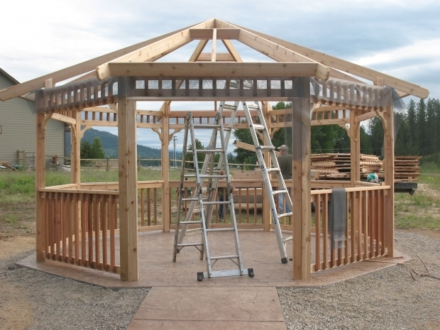 Stylish Gazebo Kits Wood Gazebo Kits Pergolas Gazebos And Decks Pinterest For Sale