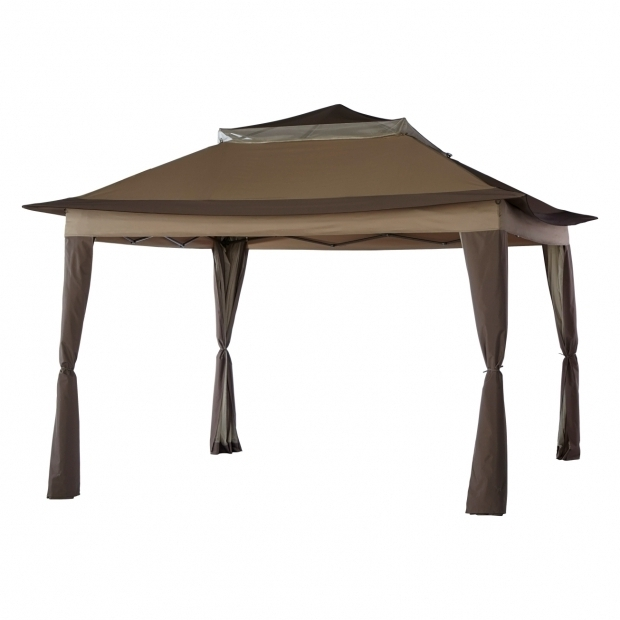 Stylish Living Accents Gazebo Living Accents 10x10ft Pop Up Gazebo Gazebos And Canopies Ace