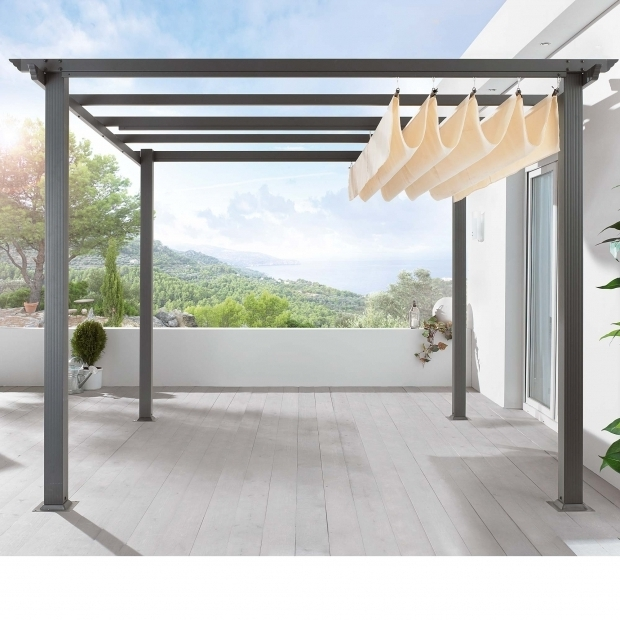 Steel pergola with retractable canopy pergola gazebo ideas for Pergola bioclimatique retractable