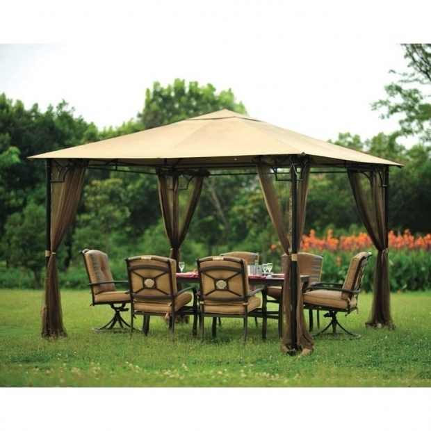 Alluring 10x10 Gazebo With Netting Stylish Gazebo Canopy Outdoor Gazebo Canopy Replacement Covers