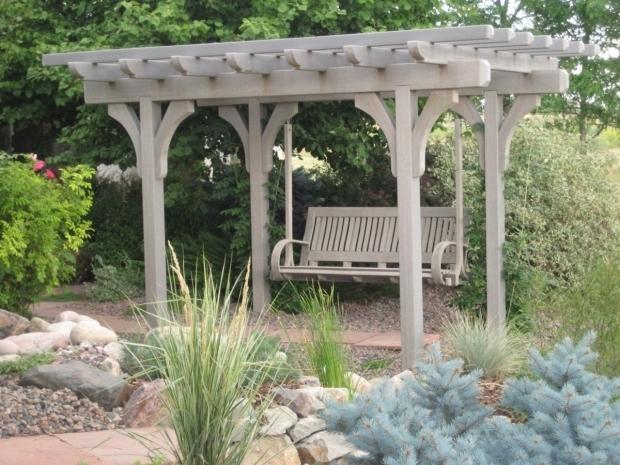Alluring Cedar Pergola Swing Pergola Swing Plans Images Thediapercake Home Trend