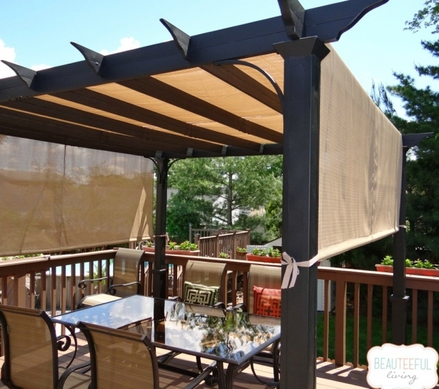 Alluring Garden Treasures Tan Pergola Canopy Garden Treasures Pergola With Canopy Home Design Ideas