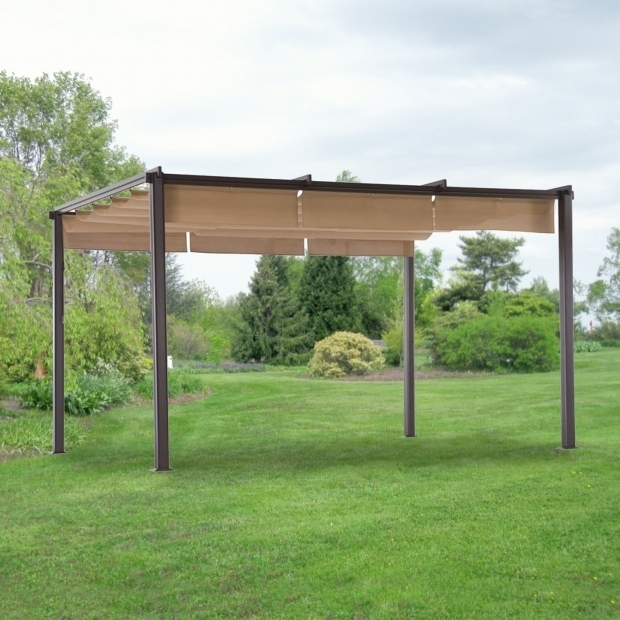 Alluring Hampton Bay Steel Pergola With Canopy Replacement Pergola Canopy And Cover For Home Depot Pergolas
