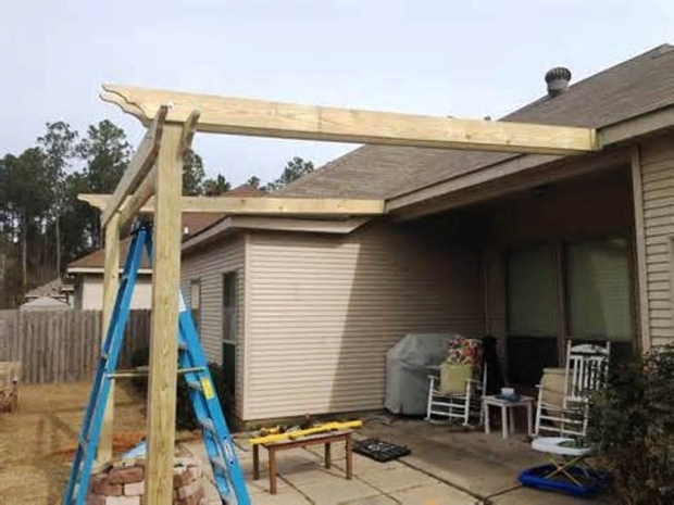 Alluring How To Make A Pergola Attached To House Pergola Plans Attached To House Home Office