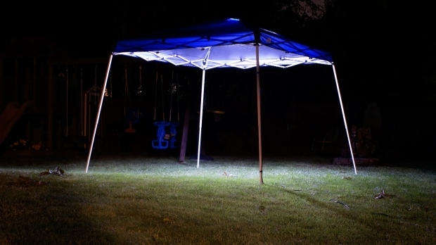 Alluring Solar Powered Gazebo Lights How To Install Lights On Canopy Youtube