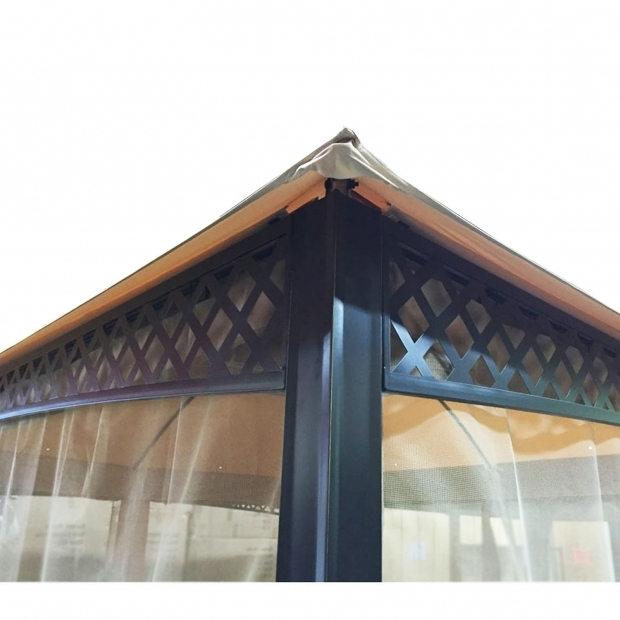 Alluring Wilson & Fisher Windsor Gazebo With Netting Replacement Canopy For Windsor Dome Gazebo Riplock 350 Garden Winds