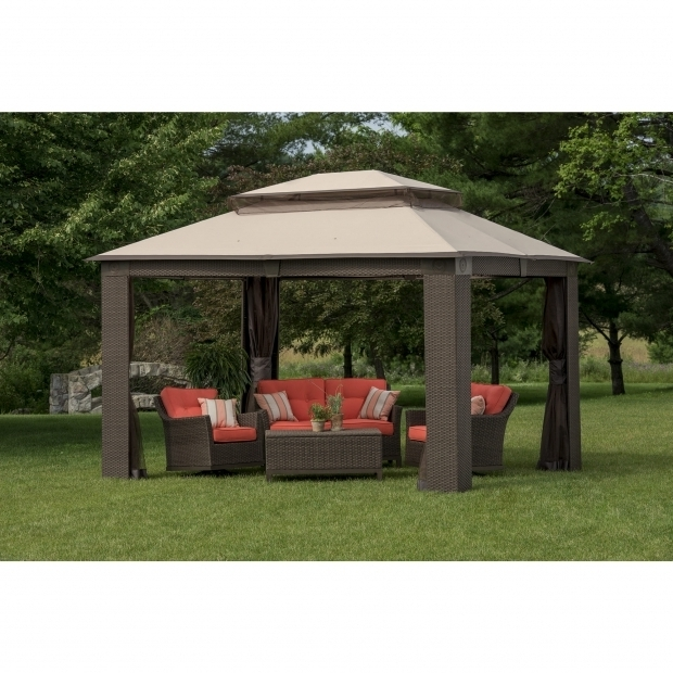Amazing Sam's Club Gazebo Canopy Berkley Jensen Antigua Wicker And Aluminum Gazebo Bjs Wholesale