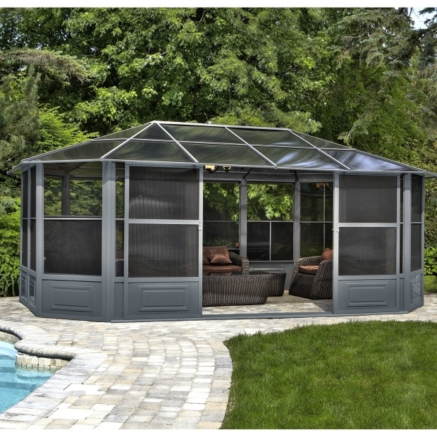 Awesome Gazebo Penguin 12 X18 Four Season Solarium Gazebo Penguin Four Season Solarium 12 Ft W X 18 Ft D Metal