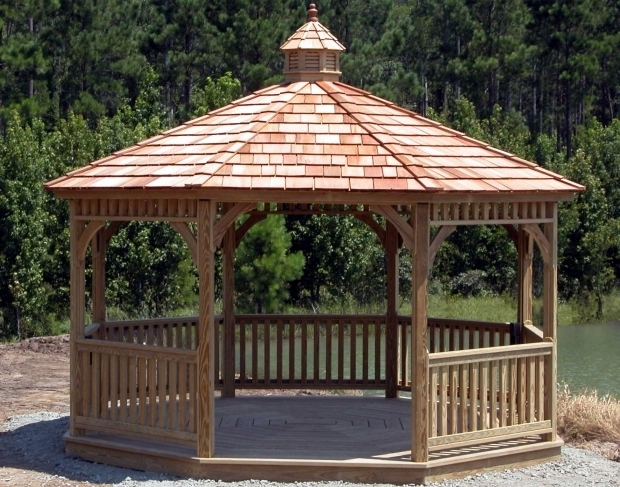 Beautiful Gazebo Creations Treated Pine Single Roof Octagon Gazebos Gazebos Style