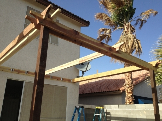 Beautiful How To Make A Pergola Attached To House Ana White Pergola Attached Directly To The House Diy Projects
