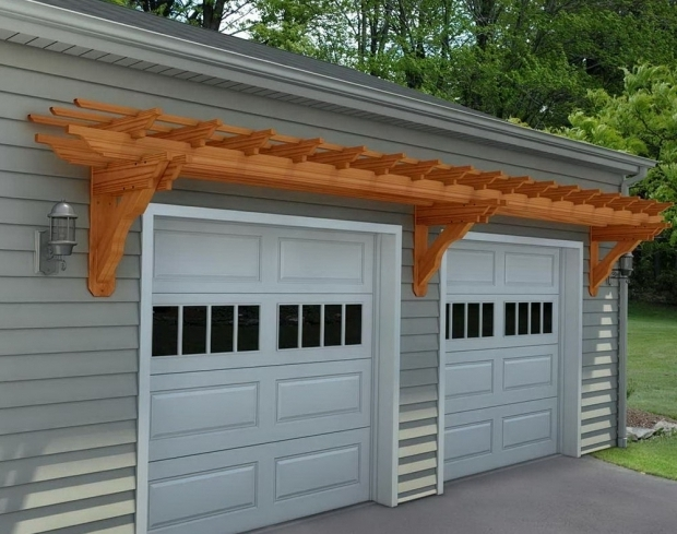 Beautiful Pergola Over Garage Door Kits Pergola Over Garage Kit Home Design Ideas