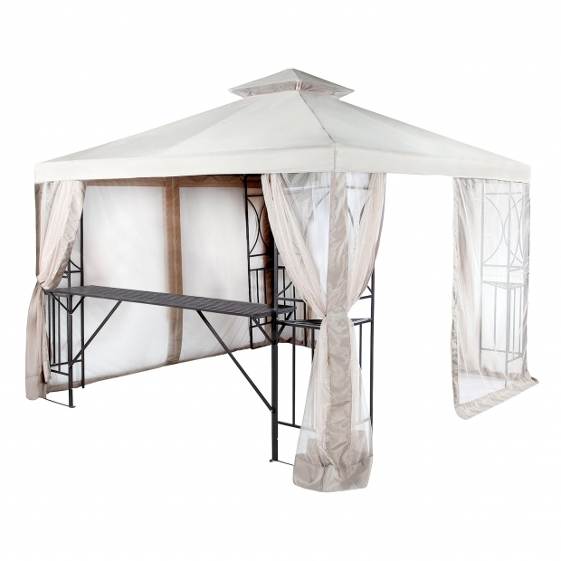 Delightful 10x10 Gazebo With Netting Replacement Canopy And Net For 10x10 Crescent Gaz Riplock Garden