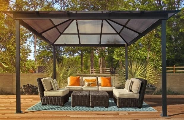 Delightful 10x10 Hardtop Gazebo Lowes Best Hard Top Gazebo Ideas Come Home In Decorations