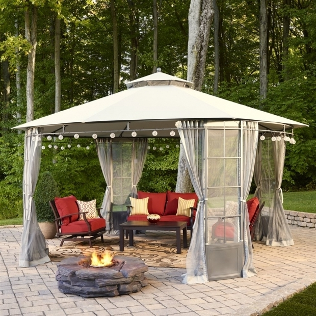 Delightful Allen Roth Black Square Grill Gazebo This Spring Practically Live Outdoors With This Durable Weather