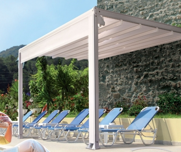 Delightful Aluminum Pergola With Retractable Canopy Retractable Roof Systems