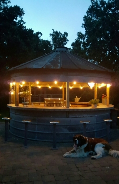 Delightful Butler Grain Bin Gazebo Grain Bin Bar Or An Outdoor Kitchengazeboplayhouse This