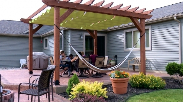 Delightful Diy Pergola Canopy How To Make A Slide On Wire Hung Canopy Pergola Canopy Youtube