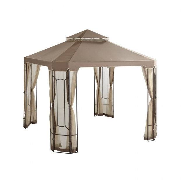 Delightful Gazebos At Home Depot Hampton Bay 10 Ft X 10 Ft Cottleville Gazebo Gfs00744a The