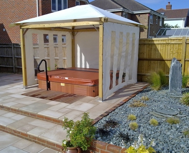 Pergola gazebo ideas pergola and gazebo design ideas for Diy hot tub gazebo