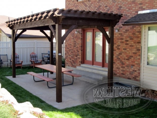 Delightful How To Build A Freestanding Pergola Free Standing Pergola With Rich Cordoba Stain And Crescent Step